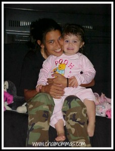 military Mom and Child